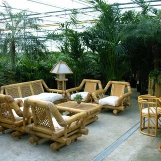 Foto van Bamboe schemerlamp groot (staand)