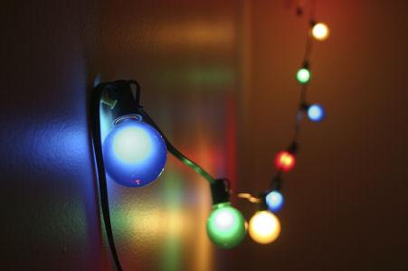 Foto van Lichtsnoer met gekleurde lampjes 10m