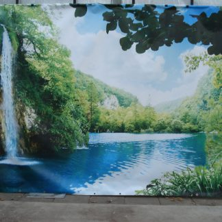 Foto van Decordoek Meer en waterval