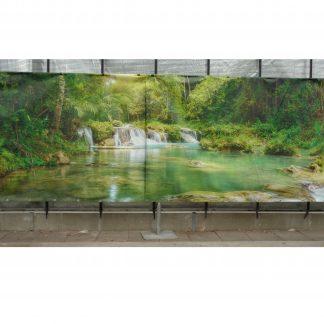 Foto van Decordoek Waterval in groen
