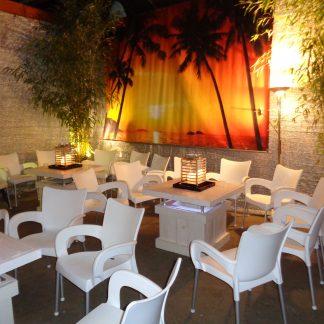 Foto van Steigerhouten tafel voor zithoek