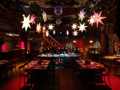 Foto van Kerststerren met verlichting (set van 3)