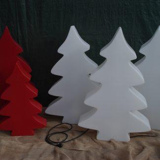 Foto van Lichtgevende Kerstboom Wit