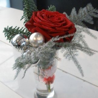 Foto van Kerststukje in vaasje