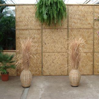 Foto van Gevlochten bamboe wand 2.60m niet zelf staand