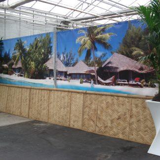 Foto van Decordoek Tropische Huizen Strand (2 delen) prijs per deel