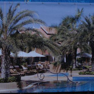 Foto van Decordoek Tropisch Zwembad