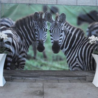 Foto van Decordoek Zebras