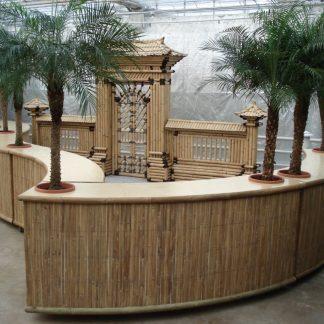 Foto van Bar Rond incl. 2 palmen (uitgifte buffet) per deel