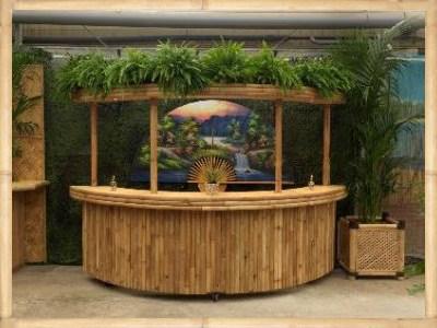 Feestaankleding en evenementendecoratie verhuur in tropische stijl.